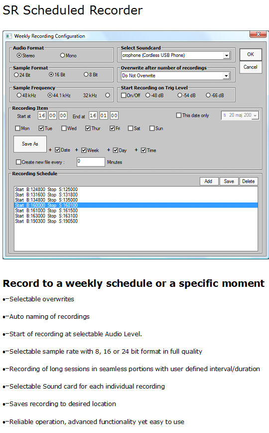BMS Scheduled Recorder